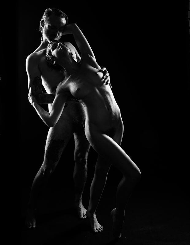silhouette 2 artistic nude artwork by photographer jim setzer