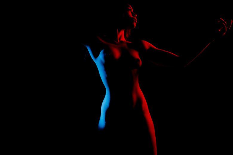 silhouette figure study photo by photographer juan rhodes