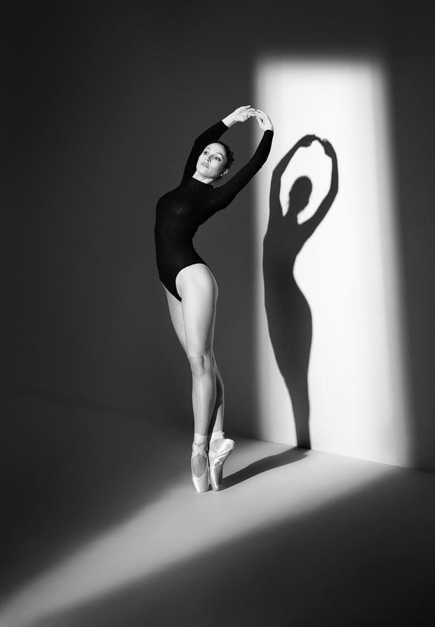 silhouette studio lighting photo by model bou