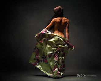 silk studio lighting photo by model jessa peters