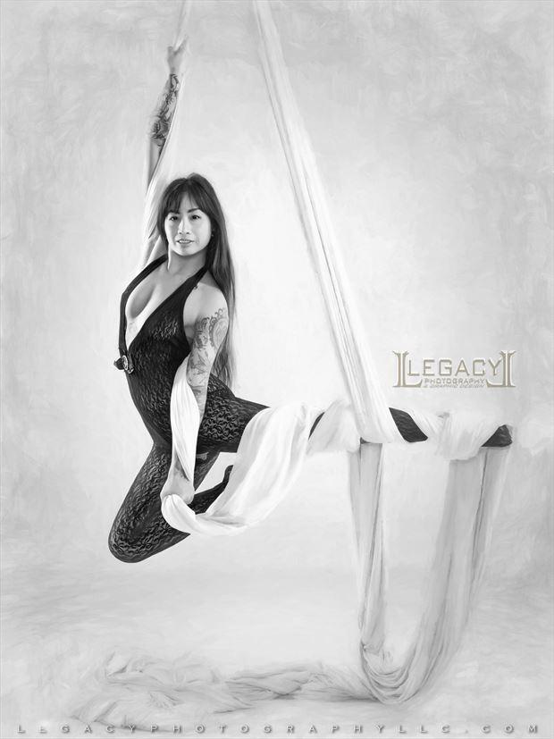 silks stretch peek a boo artistic nude photo by photographer legacyphotographyllc
