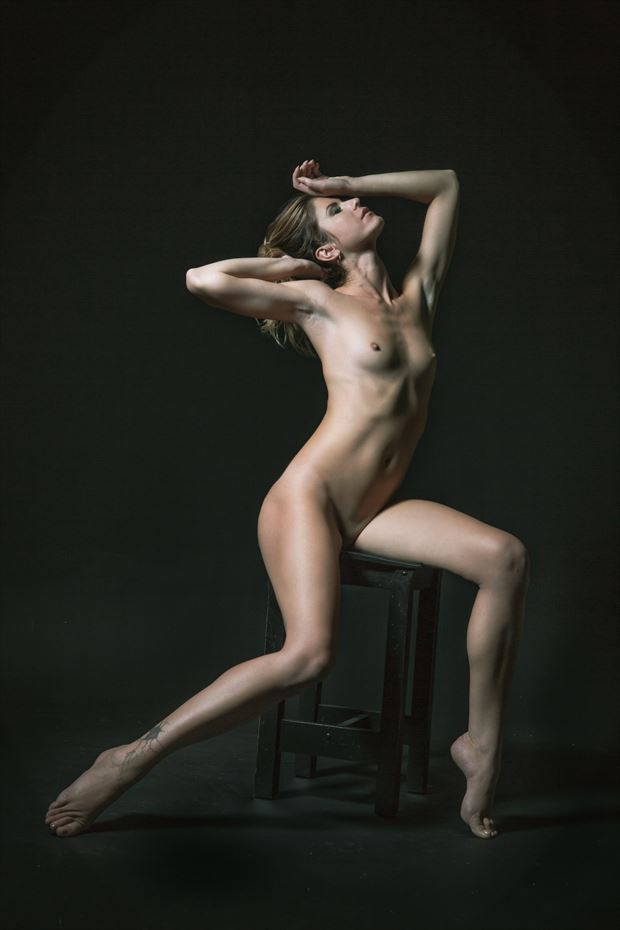 single light figure study 1 artistic nude photo by photographer jonathan c