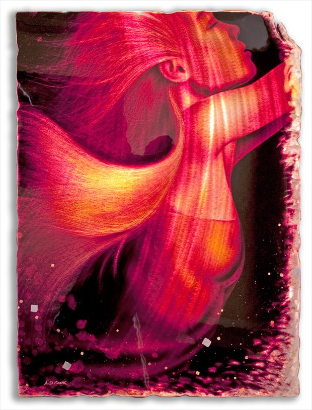 siren implied nude artwork by artist a d cook