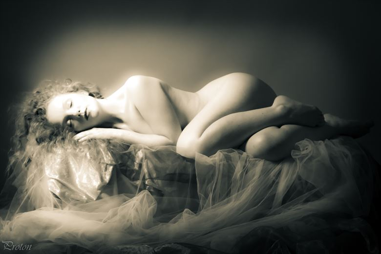 sleeping beauty artistic nude photo by photographer proton