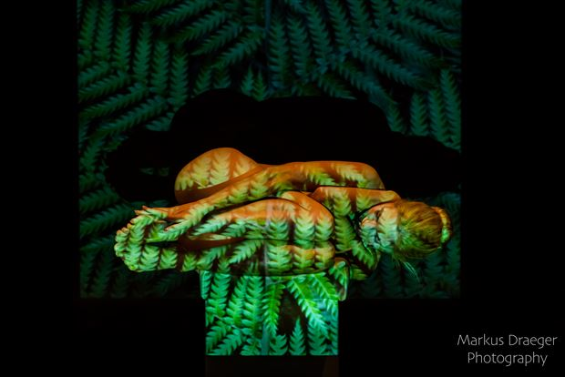 sleeping beauty in the forest artistic nude photo by photographer mdraeger