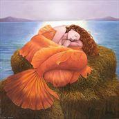 sleeping mermaid artistic nude artwork by model morganagreen