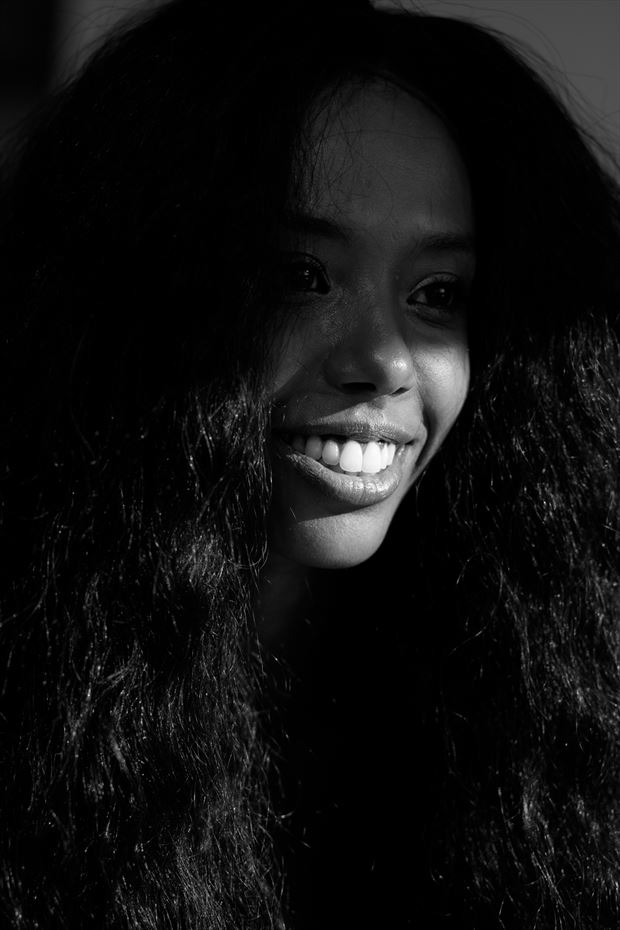 smile portrait photo by model sabamodel
