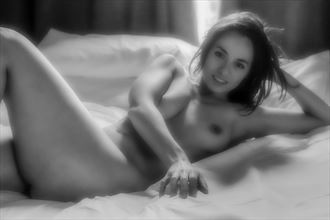 soft smile artistic nude artwork by photographer paul archer