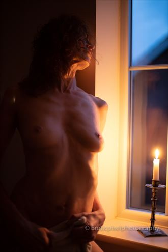 solstice fire artistic nude photo by model fleur
