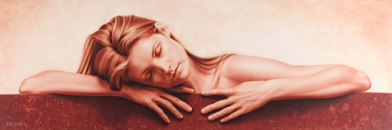 solstice implied nude artwork by artist a d cook
