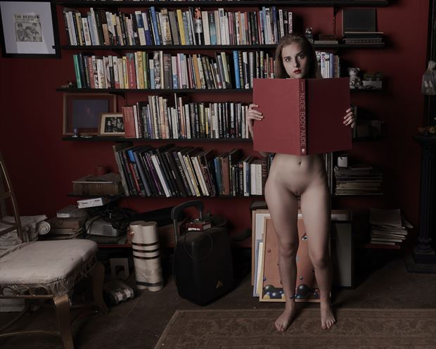 soukey and the bookshelves 2 artistic nude photo by photographer jefflamarche