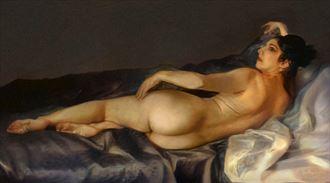 spanish nude in the manner of goya artistic nude artwork by artist van evan fuller