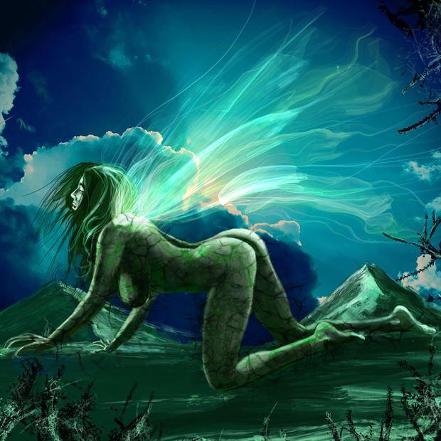 sphinx artistic nude artwork by artist nick kozis