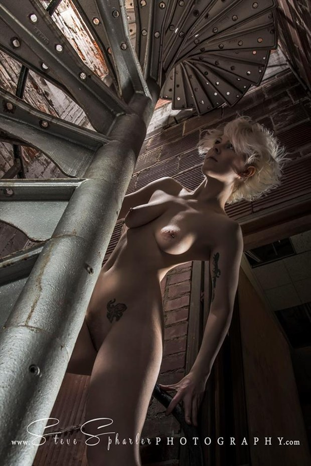 spiral staircase nude Artistic Nude Photo by Model SuziWestModel