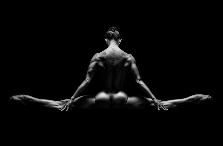 split artistic nude artwork by photographer lomobox