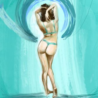 sri 3 bikini artwork by artist nick kozis