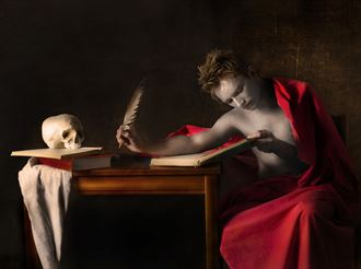 st jerome chiaroscuro artwork by photographer hruby