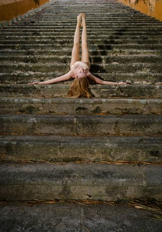 staircase number one artistic nude photo by photographer colinwardphotography