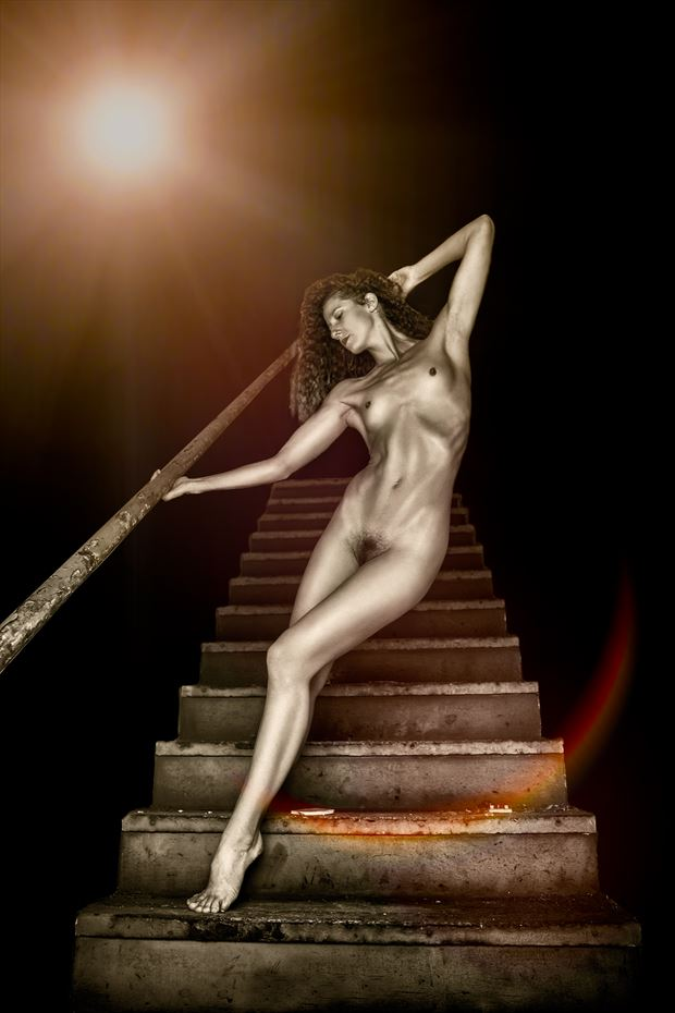 stairway to eternity artistic nude photo by photographer jonathan c