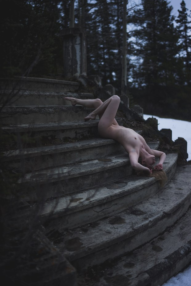 stairway to heaven artistic nude photo by model fearra lacome