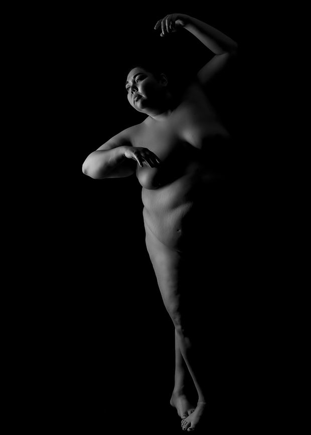 stand up artistic nude photo by model adania