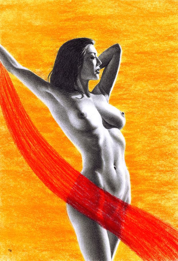 staring at the sun artistic nude artwork by artist subhankar biswas