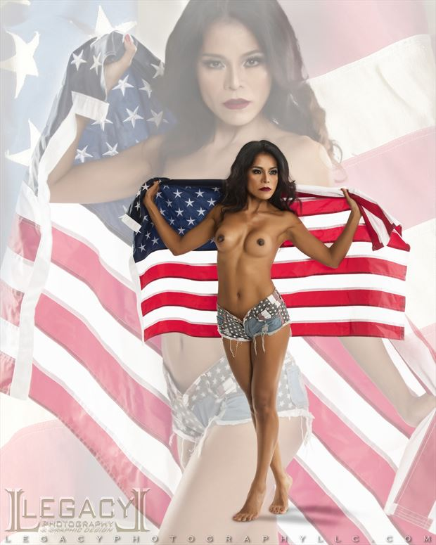 stars and stripes hard hitting artistic nude photo by photographer legacyphotographyllc