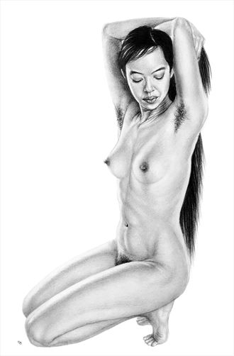 statuesque artistic nude artwork by artist subhankar biswas