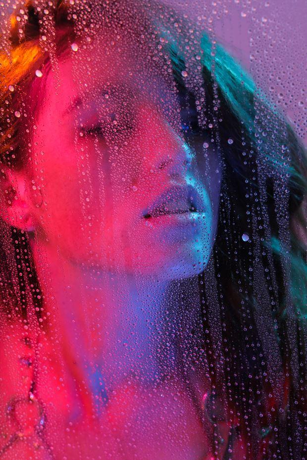 steamy la nights abstract artwork by model kisa hues