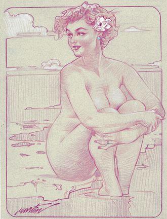 stefania artistic nude artwork by artist james martin