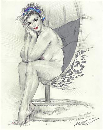 stefania swing artistic nude artwork by artist james martin