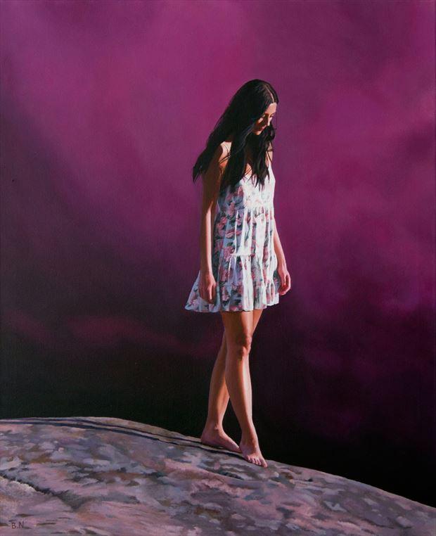 stepping down portrait artwork by artist bjornn