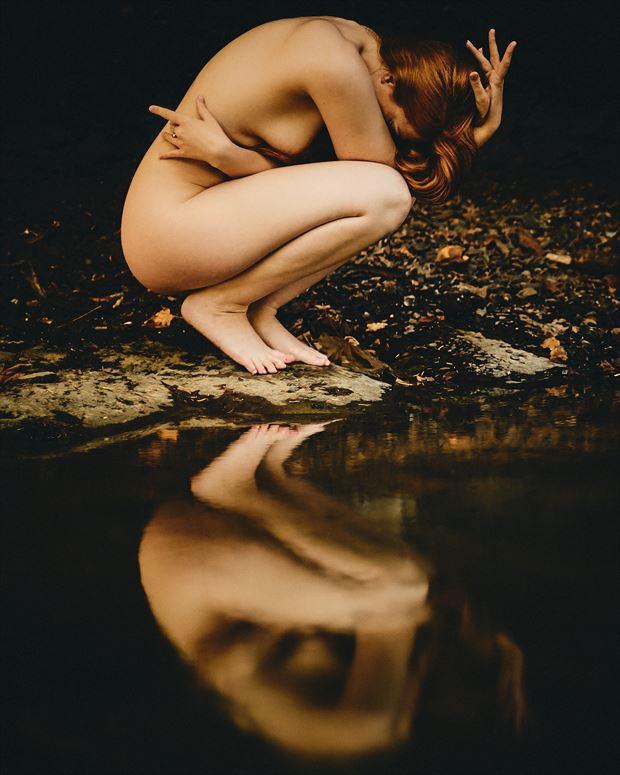still water runs deep artistic nude photo by photographer robin burch