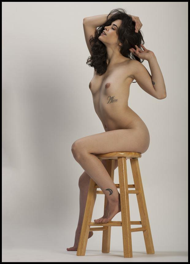 stool and open artistic nude photo by photographer tommy 2 s