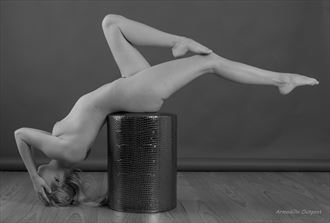 stretching artistic nude artwork by model c a artwork