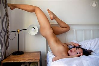 stretching artistic nude photo by photographer joesgaragephotos