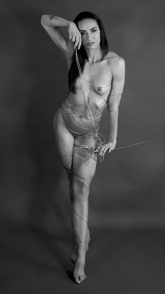 strings artistic nude photo by model bia