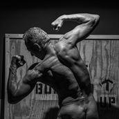 strong back studio lighting photo by model artfitnessmodel