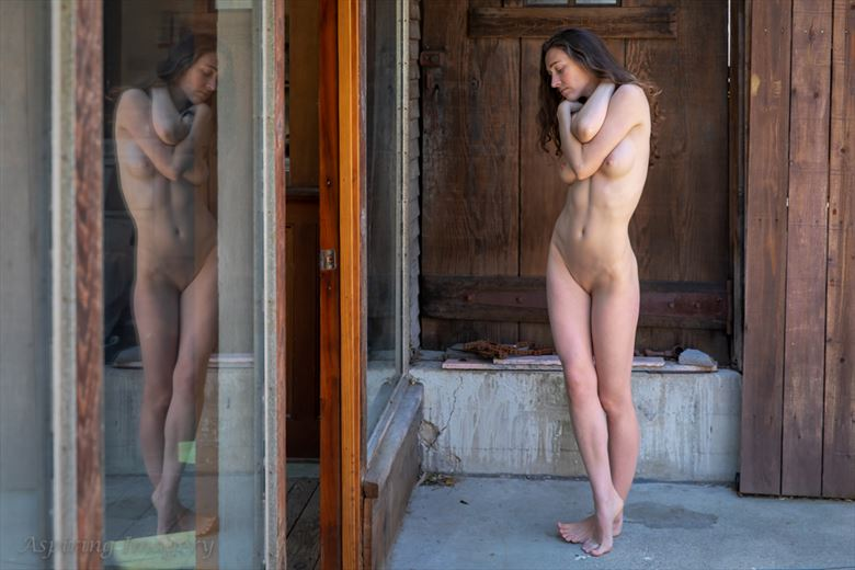 studio courtyard artistic nude photo by photographer aspiring imagery