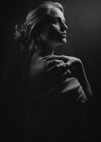 studio lighting expressive portrait artwork by photographer aj tedesco