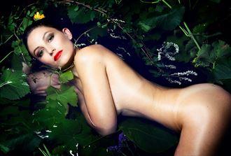 studio lighting implied nude photo by model bou