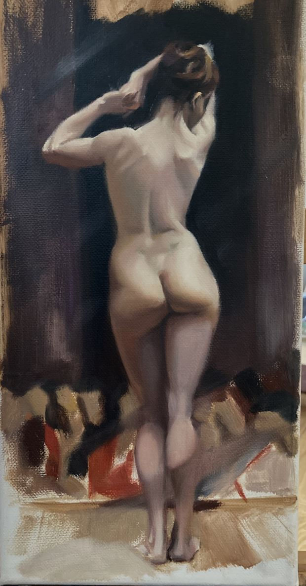study after jean leon gerome artistic nude artwork by artist edoism