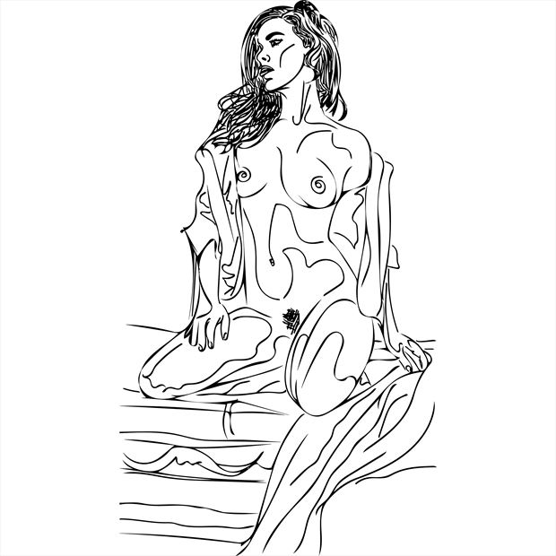 study artistic nude artwork by artist kevin houchin