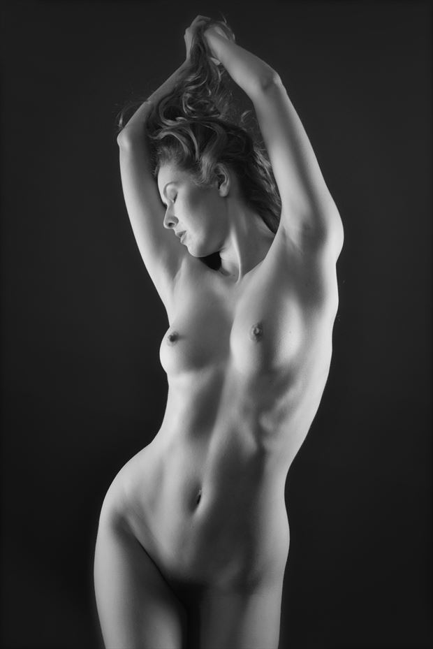 study of pose artistic nude photo by photographer nostromo images