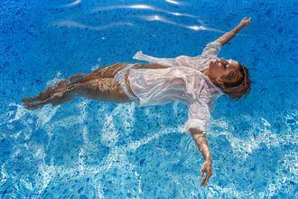 submerged painting lingerie artwork by artist johannes wessmark