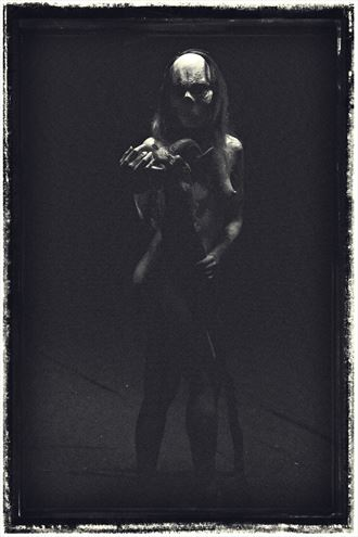 sugar skull queen artistic nude artwork by photographer dan morrill