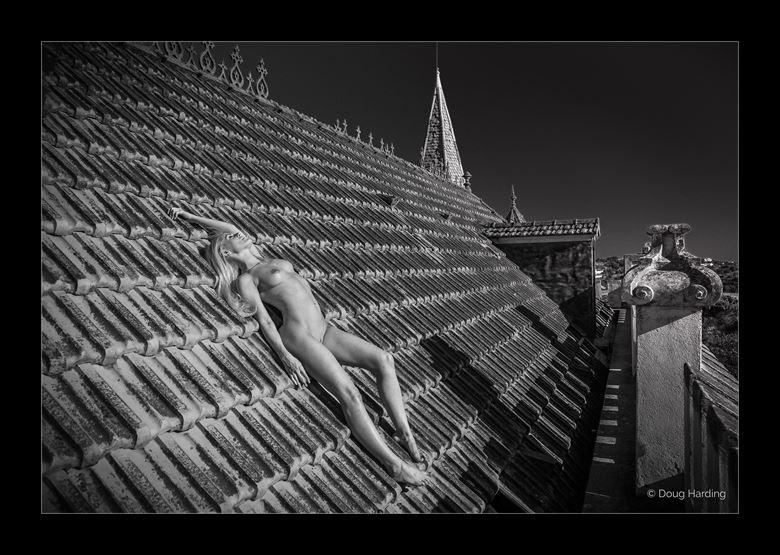 sun bathing artistic nude photo by photographer doug harding