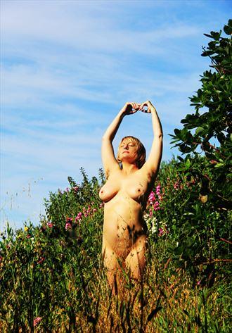 sun salutation artistic nude photo by artist annedelion