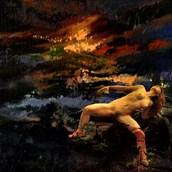 sun set Chiaroscuro Artwork by Artist jean jacques andre