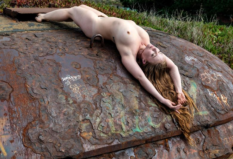 sunbathing and the edge of time artistic nude photo by photographer gpstack